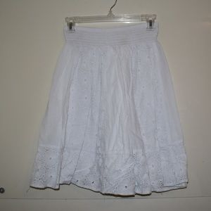 White flowered skirt